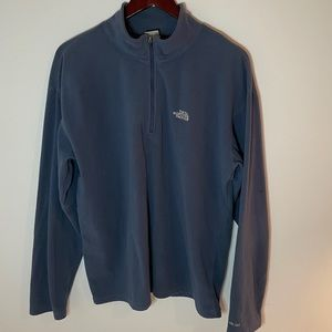 The North Face Mens Iron Blue Quarter Zip Fleece L